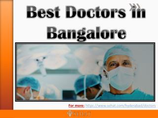 Best Doctors in Bangalore | Sehat.com