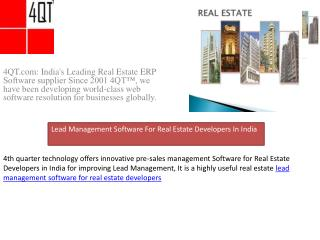 Lead Management Software For Real Estate Developers