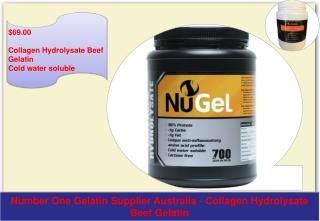 Beef Gelatin Cold water soluble