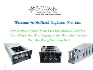 Electrical Bus Duct Manufacturers