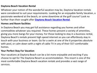 Daytona Beach Vacation Rental