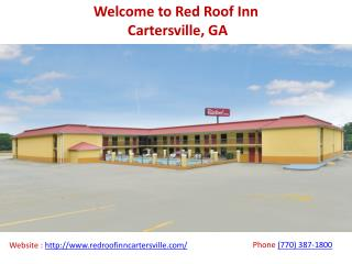 Red Roof Inn Pet Friendly Hotel in Cartersville GA