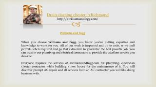 drain cleaning chester in richmond