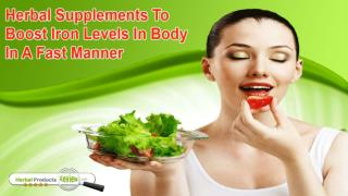 Herbal Supplements To Boost Iron Levels In Body In A Fast Manner