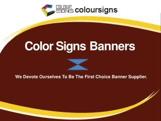 Vinyl Banners Printing - ColorSigns