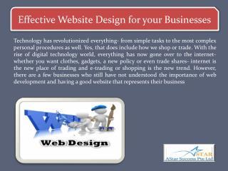 Effective Website Design for your Businesses