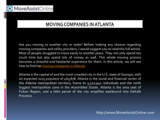 List of Top Moving Companies in Atlanta