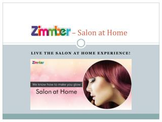 Beauty Services at Home - Zimmber