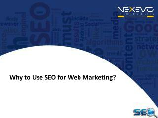 Why to Use SEO for Web Marketing