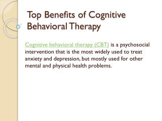 Top Benefits of Cognitive Behavioral Therapy