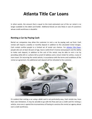 Atlanta Title Car Loans