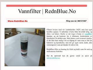 Kjøp Vannbeholder fra Norge - RednBlue.No