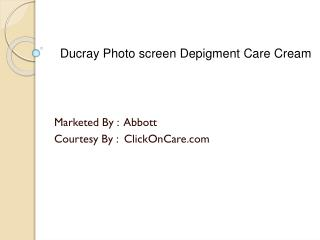 Ducray Photoscreen Depigment Care Cream