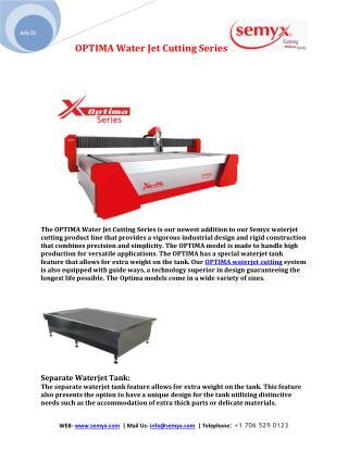 OPTIMA Water Jet Cutting Series