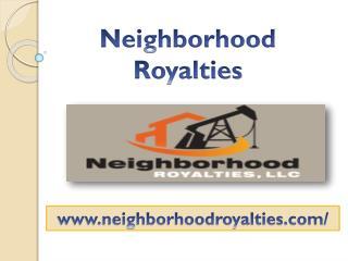 Neighborhood Royalties - Neighborhoodroyalties.com - 214) 973-0522
