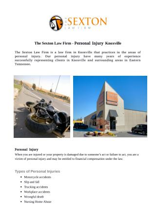 The Sexton Law Firm - Personal Injury Knoxville