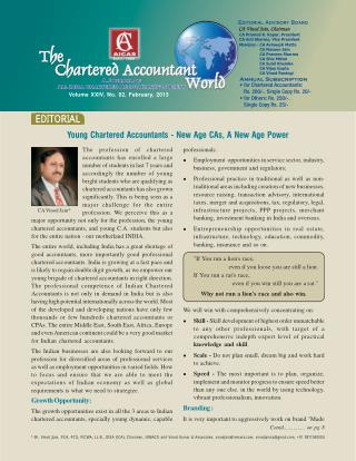 Young Chartered Accountants - New Age CAs, A New Age Power