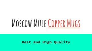 Best Moscow Mule Copper Mugs For Sale