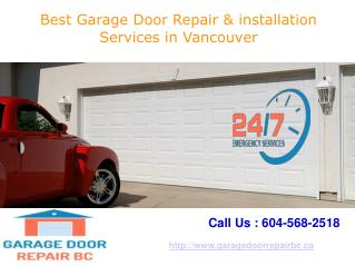 Best Garage Door Repair & installation Services in Vancouver