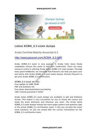 Aruba ACMA_6.3 latest dumps