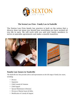 The Sexton Law Firm - Family Law in Nashville