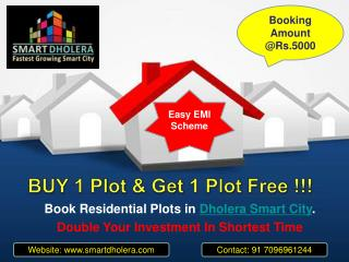 Residential pots Investment scheme in Dholera SIR
