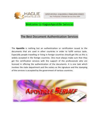 Apostille Service -  hagueapostille.us