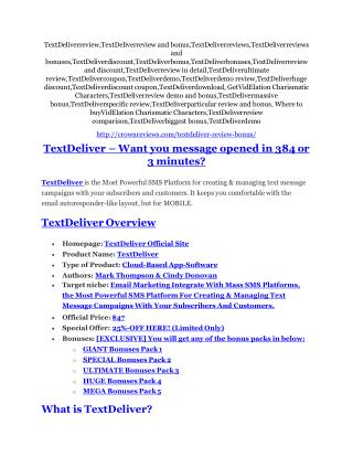 TextDeliverreview Review-(FREE) $32,000 Bonus & Discount