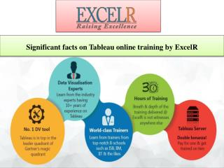 Significant facts on Tableau online training by ExcelR
