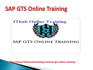 The Best SAP GTS Online Training | SAP GTS Tutorial.
