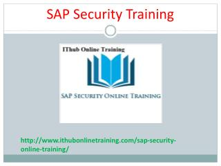 The best SAP Security Online Training | SAP Security Tutorial.