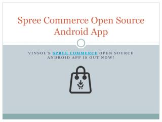 Spree Commerce Open Source Android App