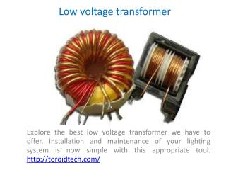 Toroid  transformer