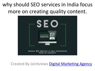 SEO Services in India Focus Quality Content