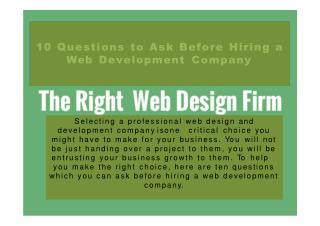 Hiring Web Development Company?