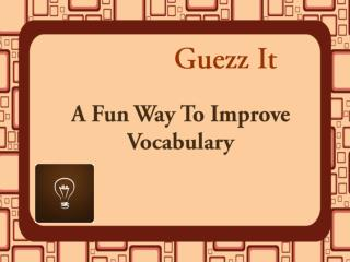 A Fun Way To Improve Vocabulary