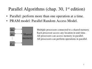 Parallel Algorithms chap. 30, 1st edition