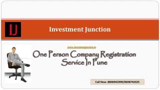 One person company registration Service in Pune