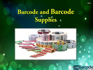 Barcode and Barcode Supplies