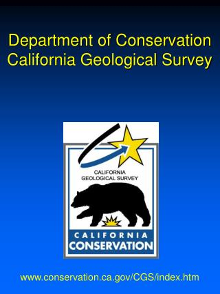 Department of Conservation California Geological Survey