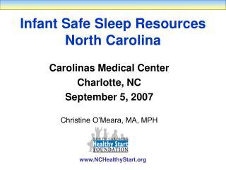 Infant Safe Sleep Resources North Carolina