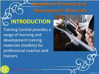 Benefits of Training And Development Materials
