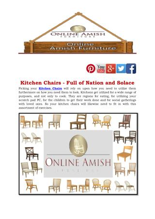 Kitchen Chairs - Full of Nation and Solace