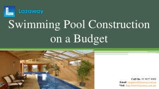 Swimming Pool Construction on a Budget