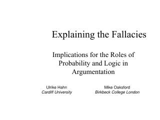 Explaining the Fallacies