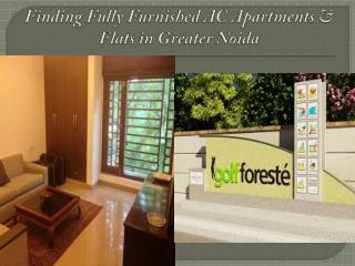 Finding Fully Furnished AC Apartments & Flats in Greater Noida