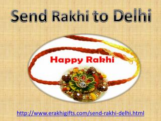 Send online rakhi to delhi