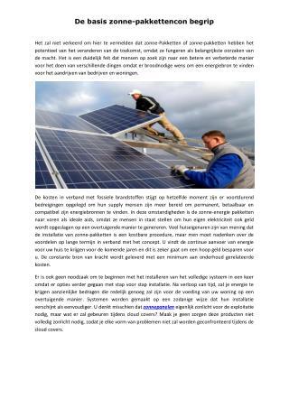 De basis zonne-pakkettencon begrip