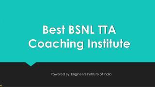 BSNL TTA Coaching In Delhi - EII