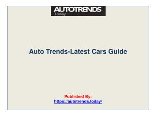 Auto Trends-Latest Cars Guide